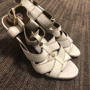 Zara size 6 white sandals - brand new
